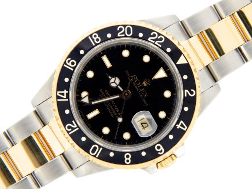 Rolex Two-Tone GMT Master II 16713 Black -7