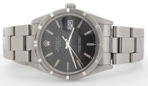 Rolex Stainless Steel Date 15010 Black -5