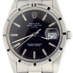 Mens Rolex Stainless Steel Date Black  15010 (SKU R162279NMT)