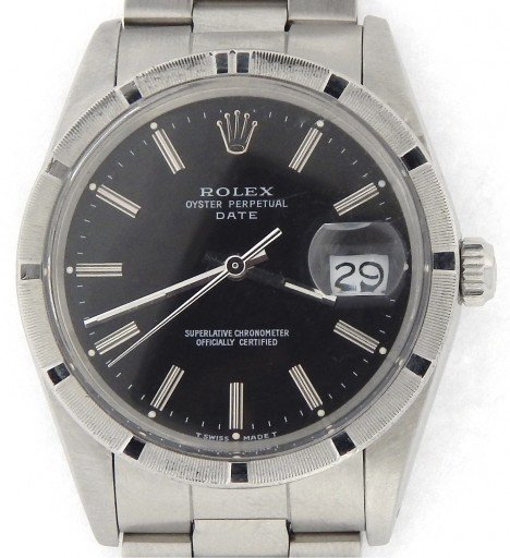 Rolex Stainless Steel Date 15010 Black -6