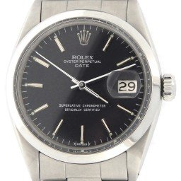 Mens Rolex Stainless Steel Date Black  1500 (SKU 1459255NDMT)