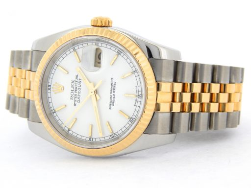 Rolex Two-Tone Datejust 116233 White -9