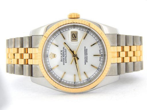 Rolex Two-Tone Datejust 116233 White -10