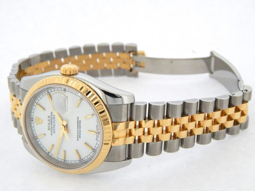 Rolex Two-Tone Datejust 116233 White -6