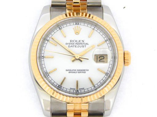 Rolex Two-Tone Datejust 116233 White -1