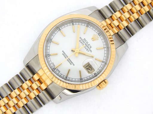 Rolex Two-Tone Datejust 116233 White -8