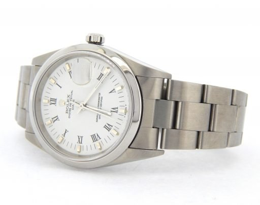 Rolex Stainless Steel Date 15200 White Roman-6