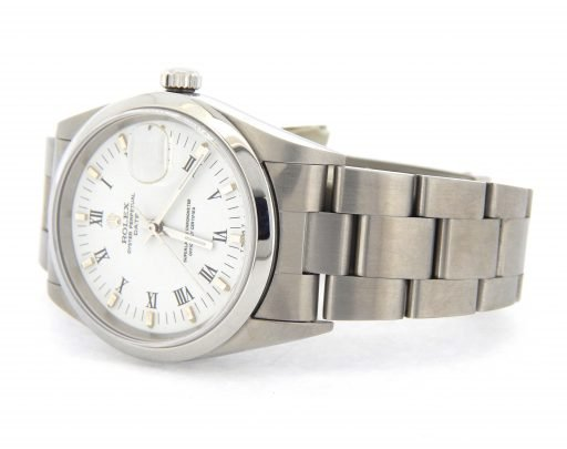 Rolex Stainless Steel Date 15200 White Roman-8