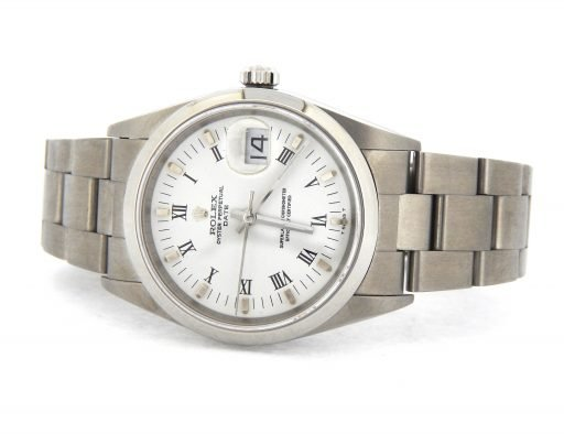 Rolex Stainless Steel Date 15200 White Roman-7