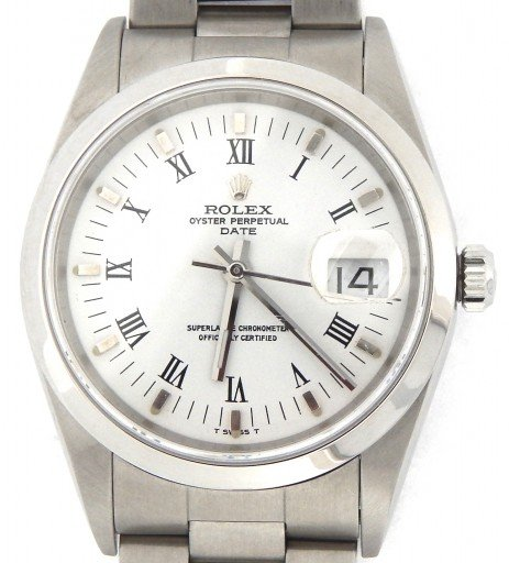 Rolex Stainless Steel Date 15200 White Roman-1