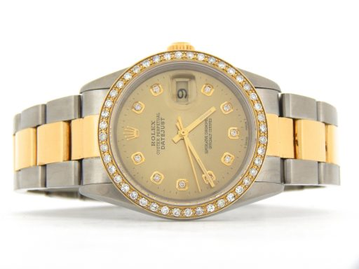 Rolex Two-Tone Datejust 16233 Champagne Diamond-8