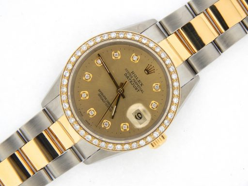 Rolex Two-Tone Datejust 16233 Champagne Diamond-7