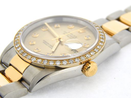 Rolex Two-Tone Datejust 16233 Champagne Diamond-6