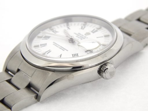 Rolex Stainless Steel Date 15200 White Roman-5