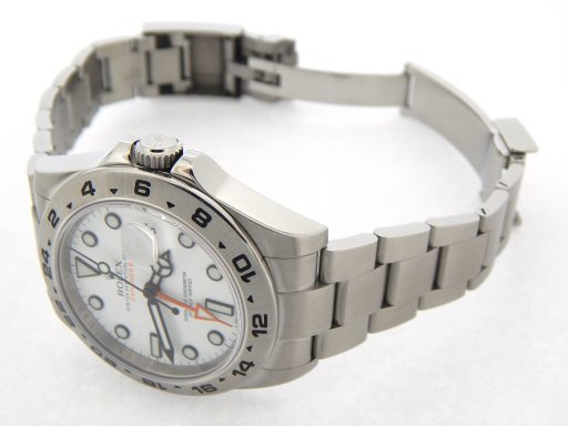 Rolex Stainless Steel Explorer II 216570 White -2