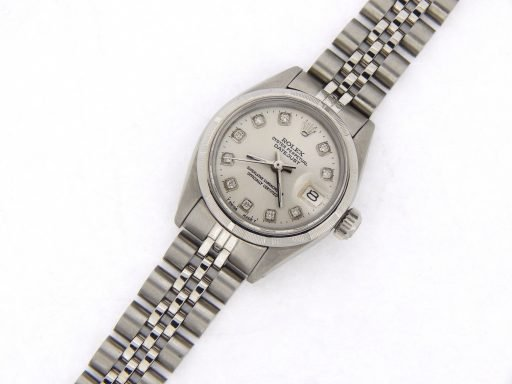 Rolex Stainless Steel Datejust 6916 Silver Diamond-7