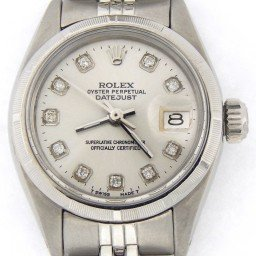 Ladies Rolex Stainless Steel Datejust Silver Diamond 6916 (SKU 4068314MT)
