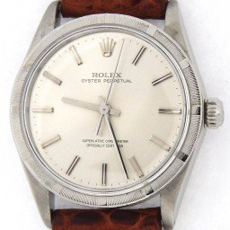 Mens Rolex Stainless Steel Oyster Perpetual Silver  1007