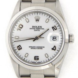 Mens Rolex Stainless Steel Date White Arabic 15200 (SKU T847739MT)