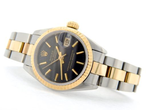 Rolex Two-Tone Datejust 69173 Black -5