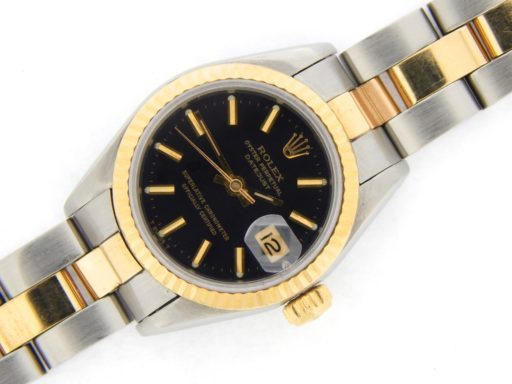 Rolex Two-Tone Datejust 69173 Black -6