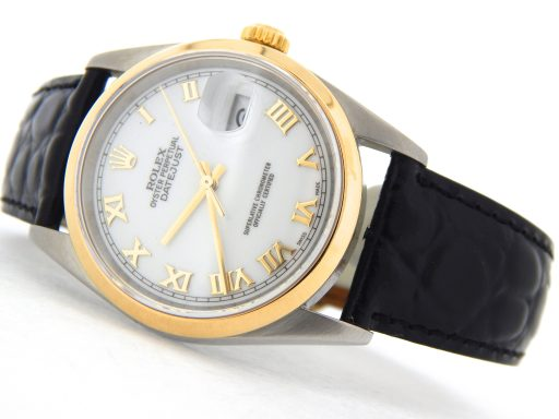 Rolex Two-Tone Datejust 16203 White Roman-10