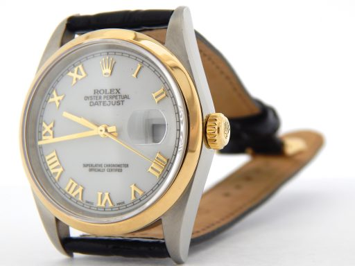 Rolex Two-Tone Datejust 16203 White Roman-7