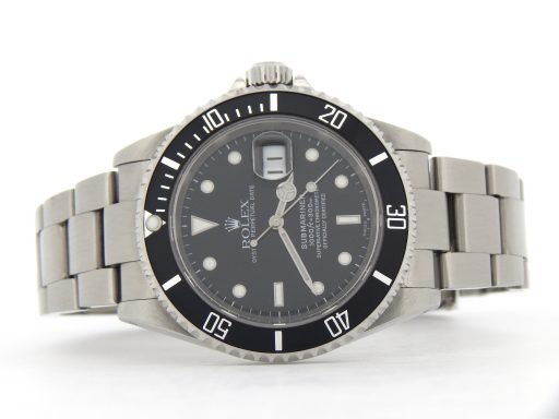 Rolex Stainless Steel Submariner 16610 Black -7