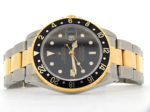 Rolex Two-Tone GMT Master II 16713 Black -8