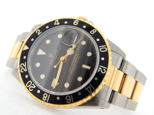 Rolex Two-Tone GMT Master II 16713 Black -9