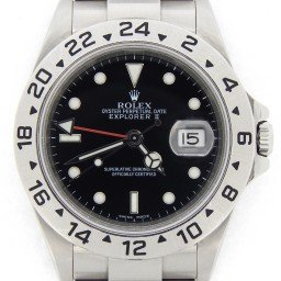 Mens Rolex Stainless Steel Explorer II Black  16570T