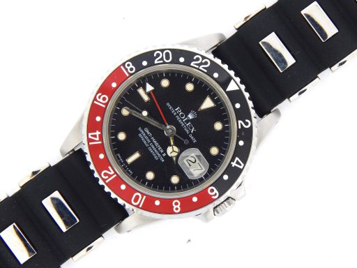 Rolex Stainless Steel GMT Master II 16760 Black & Red Coke -9