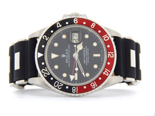Rolex Stainless Steel GMT Master II 16760 Black & Red Coke -8