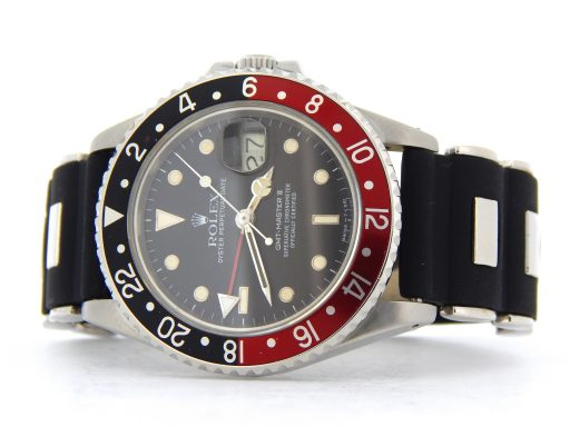 Rolex Stainless Steel GMT Master II 16760 Black & Red Coke -10