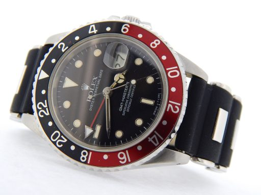 Rolex Stainless Steel GMT Master II 16760 Black & Red Coke -7