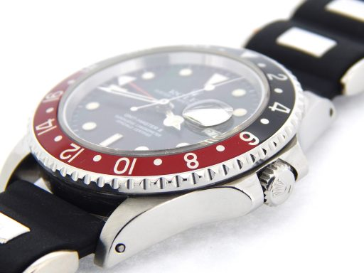 Rolex Stainless Steel GMT Master II 16760 Black & Red Coke -6