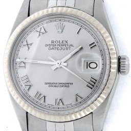 Mens Rolex Stainless Steel Datejust Silver Roman 16014 (SKU 6156790NMT)