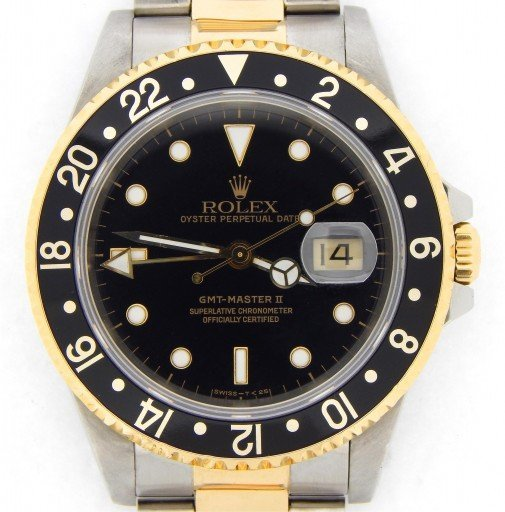 Rolex Two-Tone GMT Master II 16713 Black -1