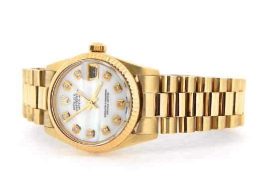 Rolex Yellow Gold Datejust President Diamond 6827 White MOP-6
