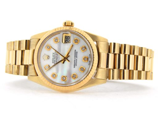 Rolex Yellow Gold Datejust President Diamond 6827 White MOP-5