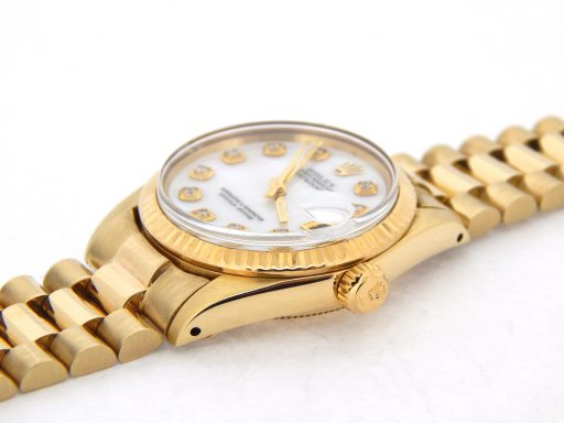 Rolex Yellow Gold Datejust President Diamond 6827 White MOP-4