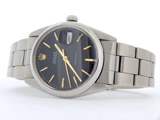 Rolex Stainless Steel Oysterdate 6694 Black -7