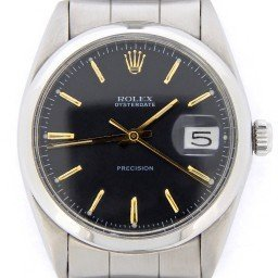Mens Rolex Stainless Steel Oysterdate Black  6694 (SKU 1206292BCMT)
