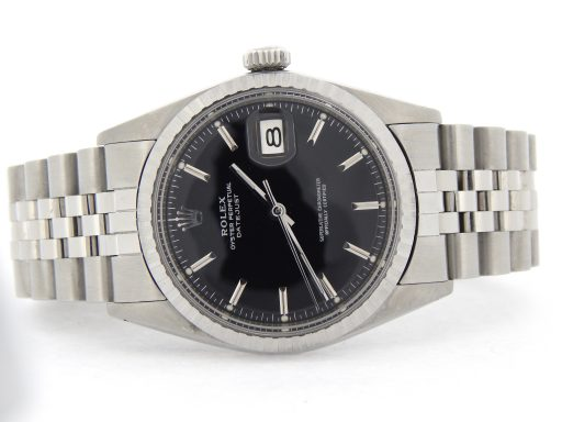Rolex Stainless Steel Datejust 1603 Black -8