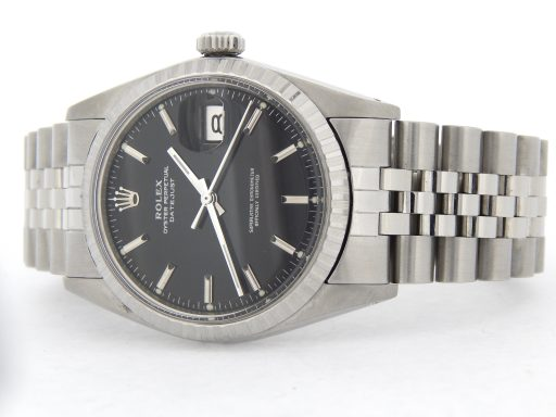 Rolex Stainless Steel Datejust 1603 Black -9