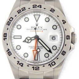 Mens Rolex Stainless Steel Explorer II 42mm White  216570 (SKU 216570E2NMT)