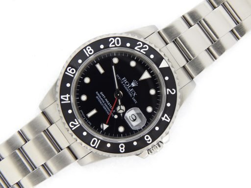 Rolex Stainless Steel GMT Master II 16710 Black -9