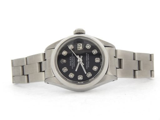 Rolex Stainless Steel Datejust 6916 Black Diamond-6