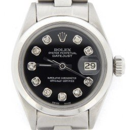 Ladies Rolex Stainless Steel Datejust Black Diamond 6916 (SKU 3254913NDMT)