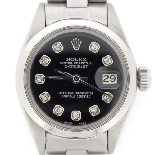 Rolex Stainless Steel Datejust 6916 Black Diamond-1